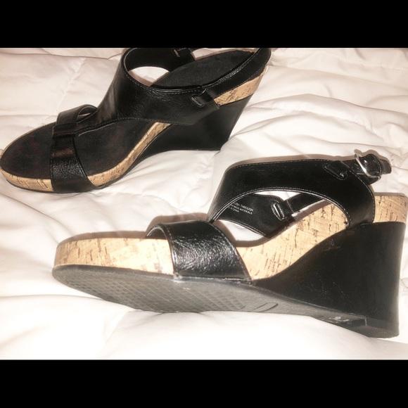 e9c2484a4b AEROSOLES Shoes | Size 9 Aerosole Wedges Black | Poshmark